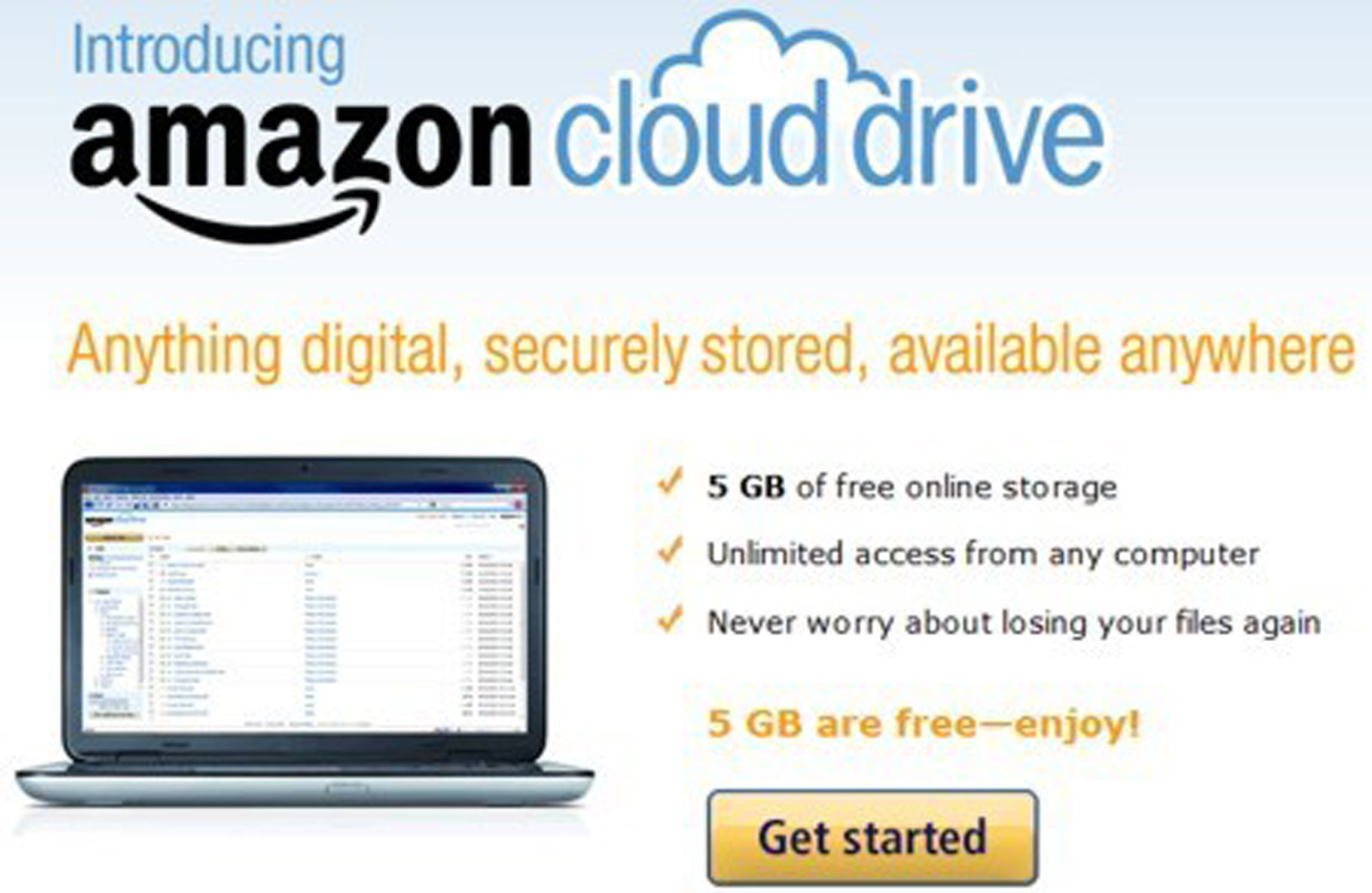 Amazon giver 5GB gratis lager