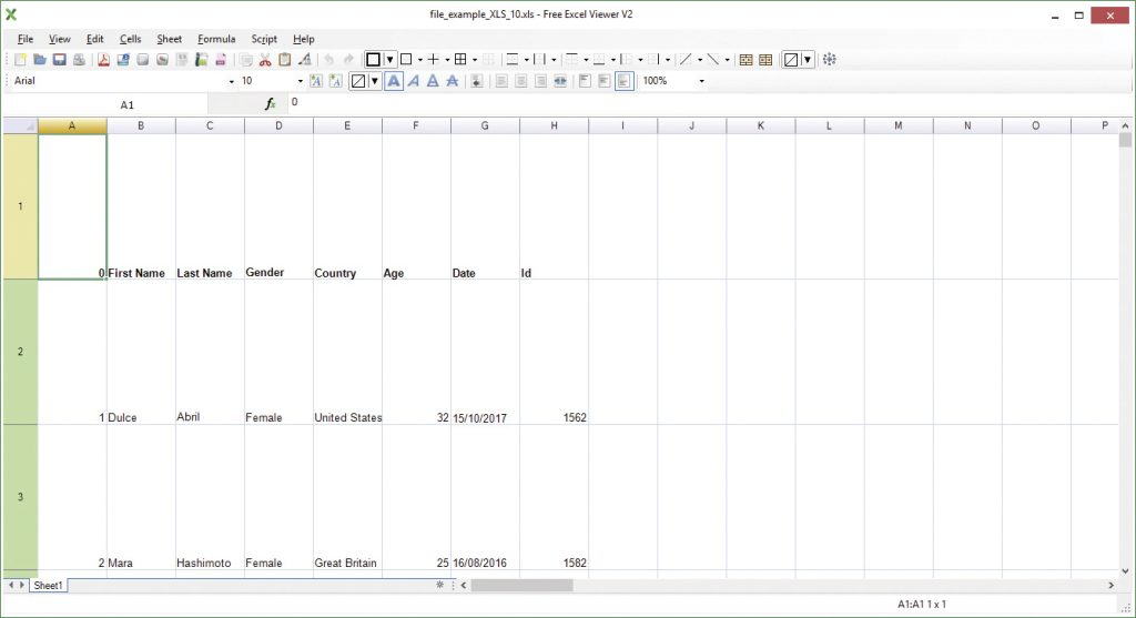 Free Excel Viewer.