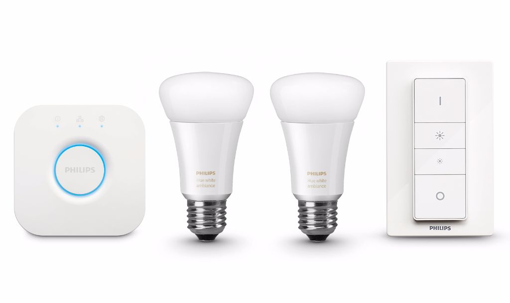 Philips Hue White Ambiance Starter Kit.
