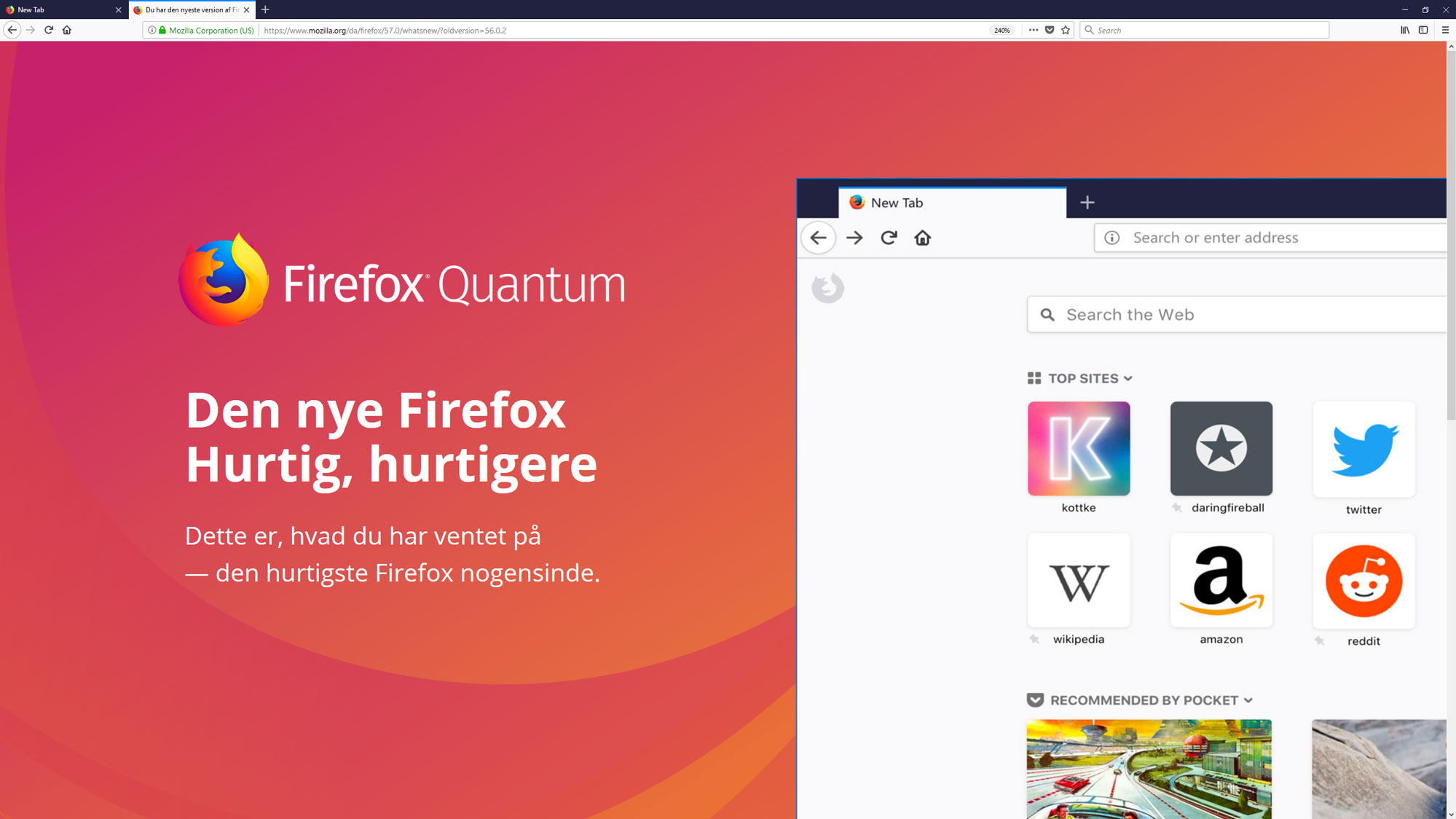 Helt ny Firefox-browser er hurtigere end Chrome