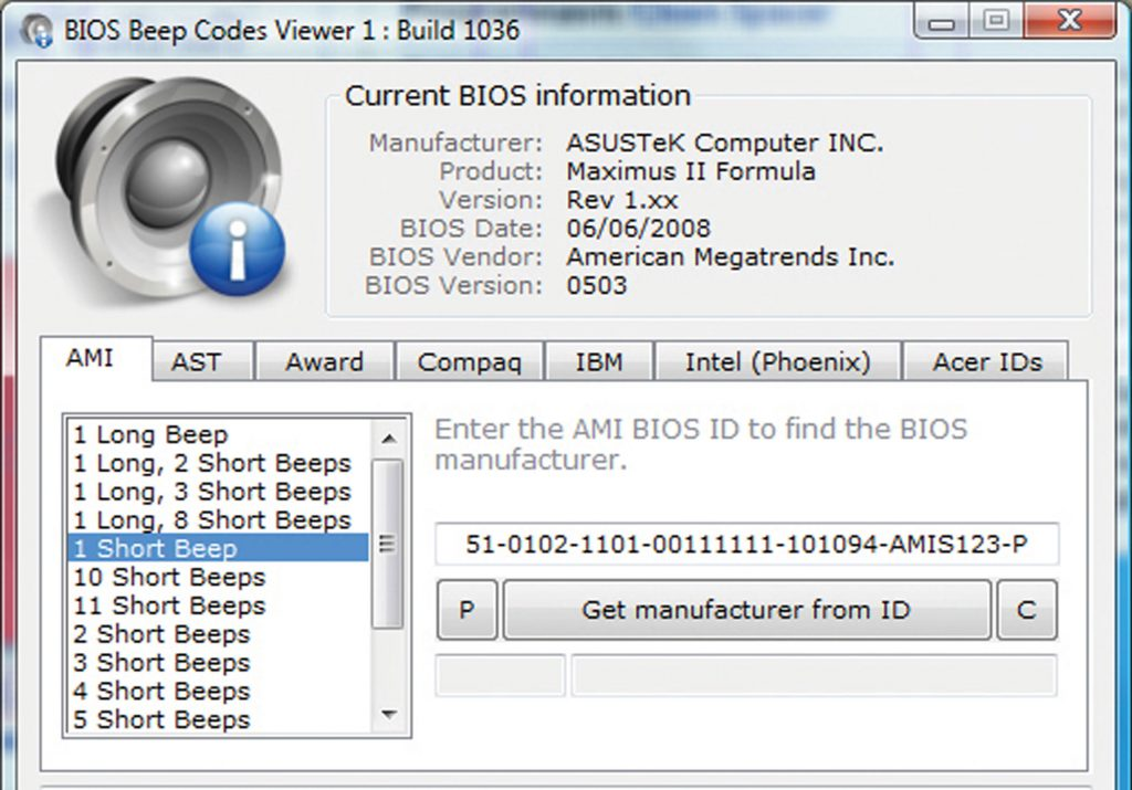 BIOS Beepcodes Viewer