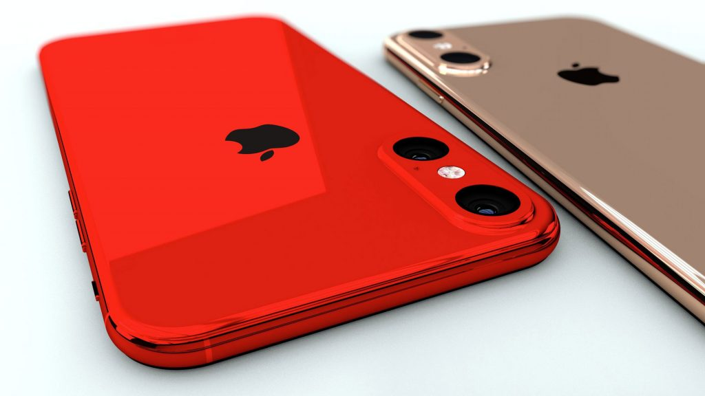 iPhone 11R i en særlig RED version, som Apple har for at udsende.
