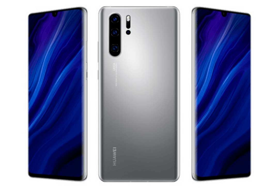 Huawei P30 Pro New Edition med i farven Silver Frost.